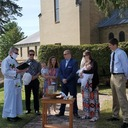 Cousins Baptized on the Parish's Side Lawn photo album